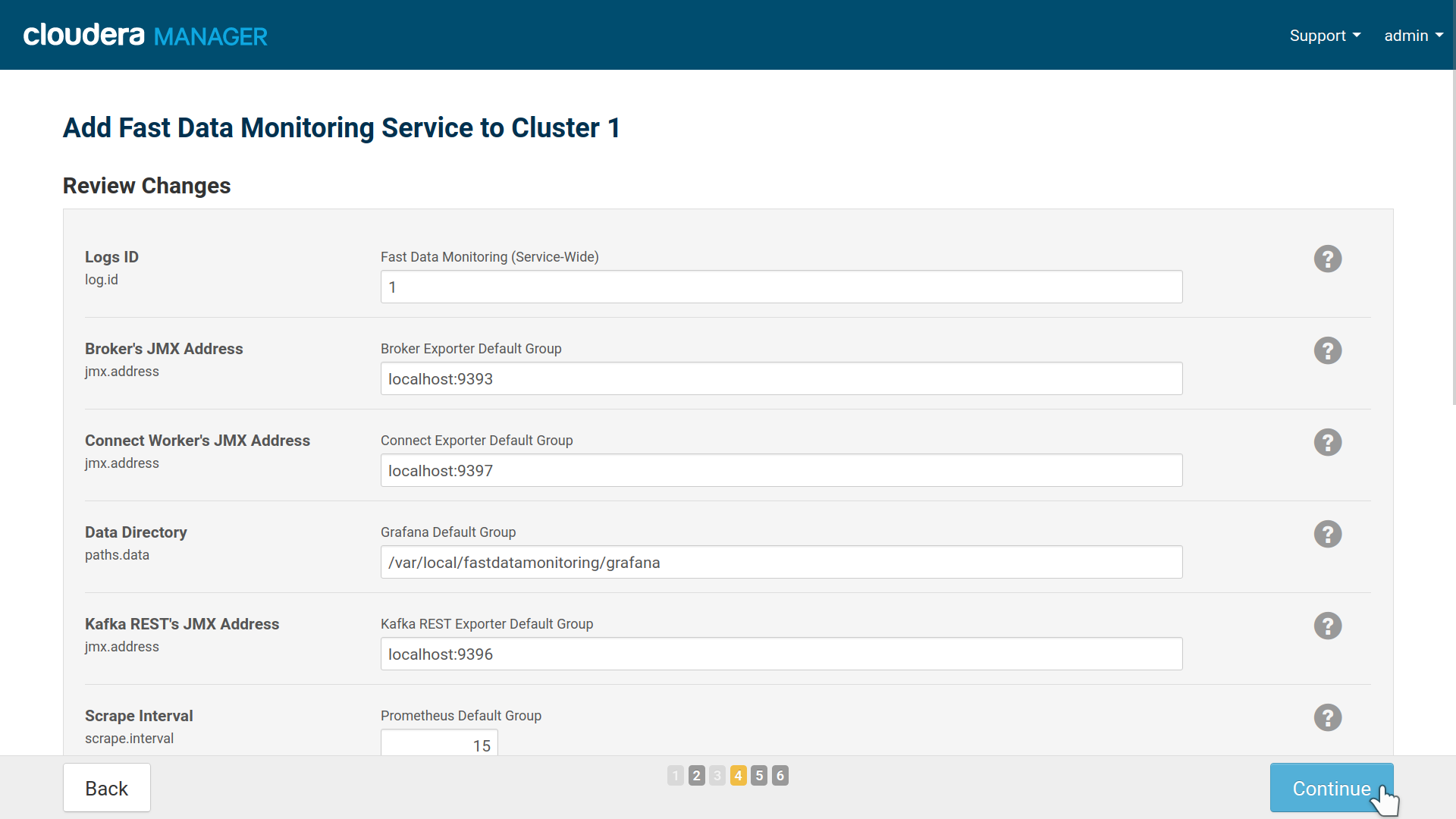 Install Fast Data Monitoring 1 2 on a CDH cluster